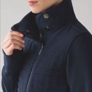 Lululemon Fleece Be True Jacket in Navy